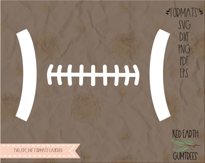 football stitch in svg  eps  pdf  dxf  png formats  football  sports  cricut  silhouette cameo