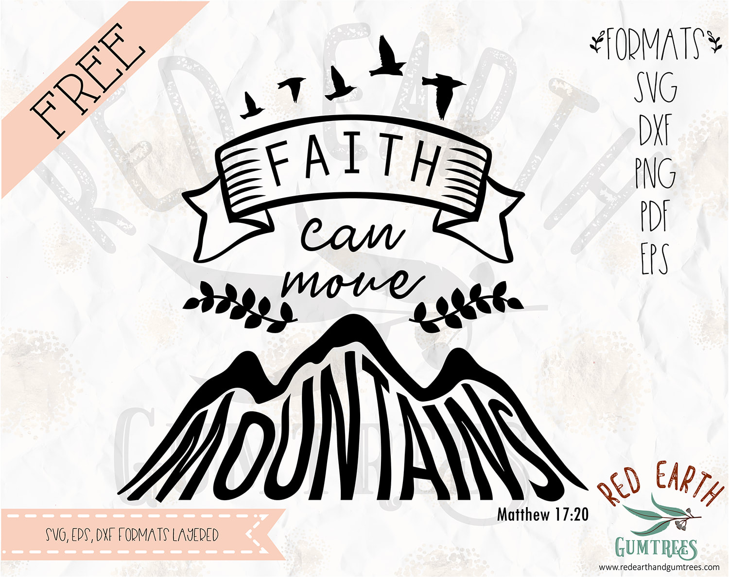 Free Faith Can Move Mountains Svg Decal In Svg Eps Pdf Dxf Png Formats Cricut Silhouette Cameo Vinyl Decal T Shirt Design Mtc Scal Iron On Vinyl Heat Transfer Vinyl